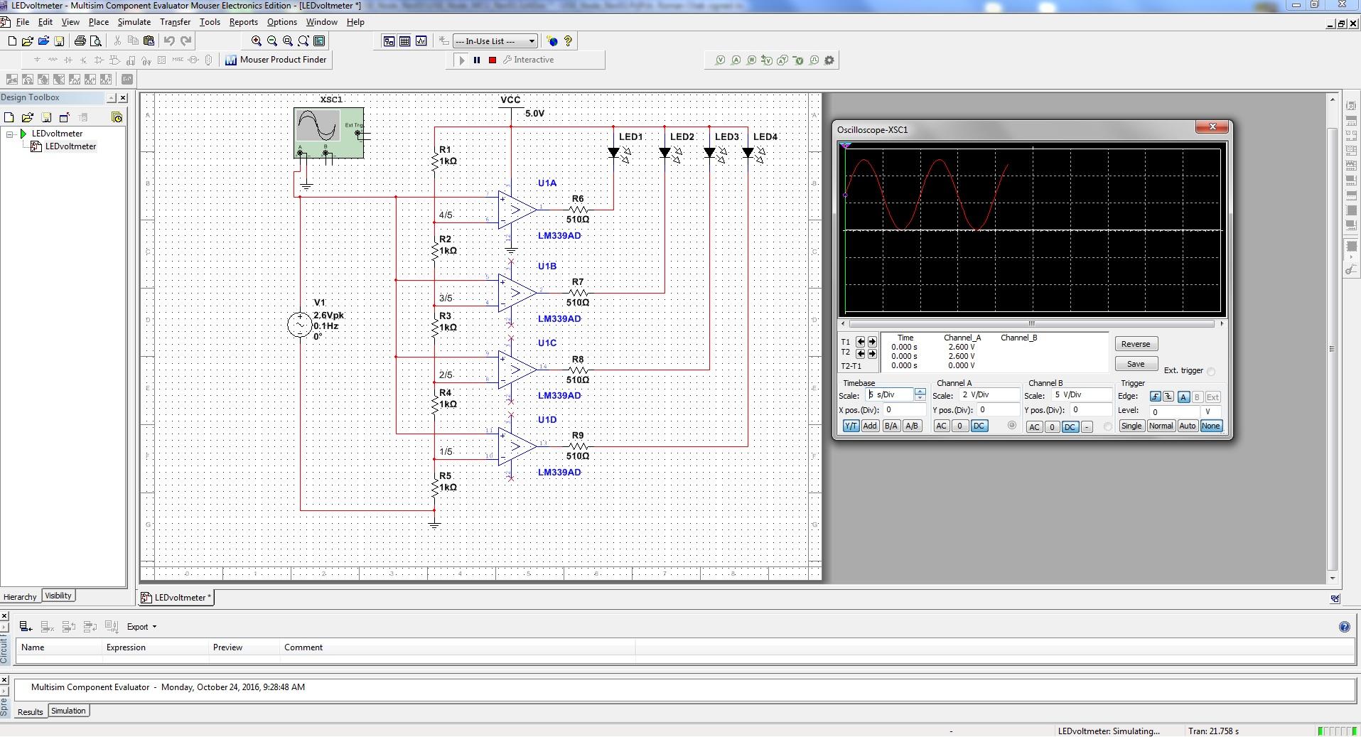 Cnk Tech Labs Tina Electronic Circuit Design Software Led Voltmeter